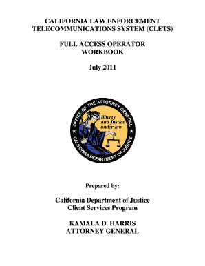 Fillable Online fieldops doj ca California law enforcement