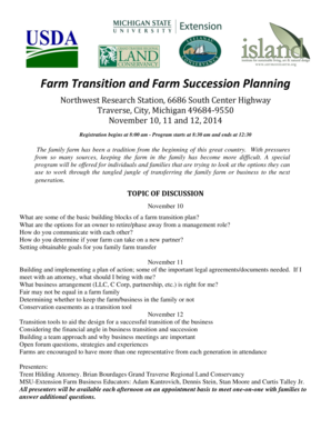 Farm Transition and Farm Succession Planning - Michigan State ...