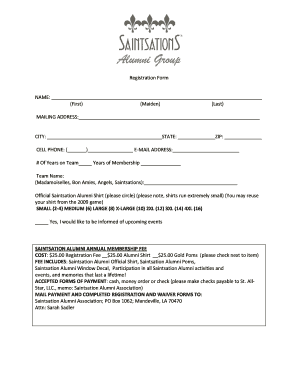 Association Registration Form