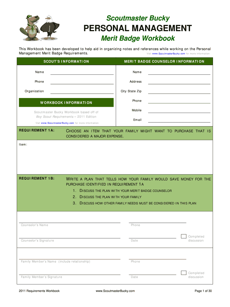Personal Management Worksheet   Fill Online, Printable ...