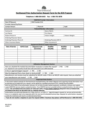 Fillable Online Northwood Prior Authorization Request Form for ...