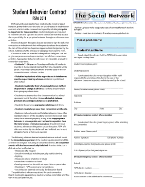 Download the student behavior contract (pdf).