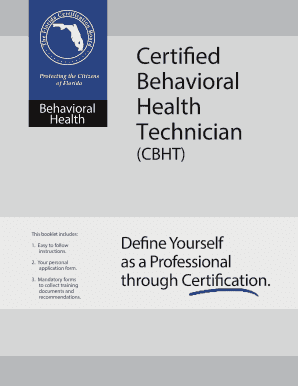fillable online flcertificationboard bht candidate guide florida rh pdffiller com Certificate Templates Nursing Certification
