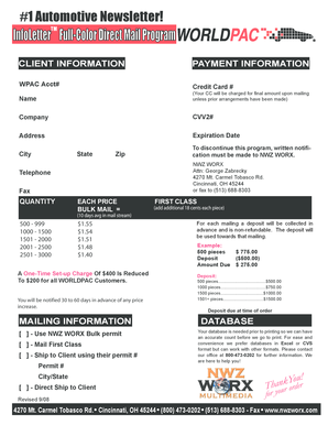 InfoLetter Direct Mail Program 06 rates.p65 - WORLDPAC