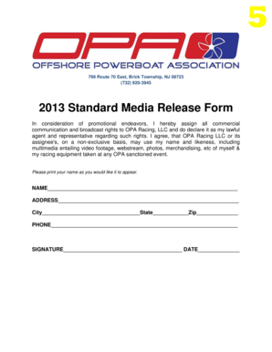 2013 standard media release form opa racing oparacing
