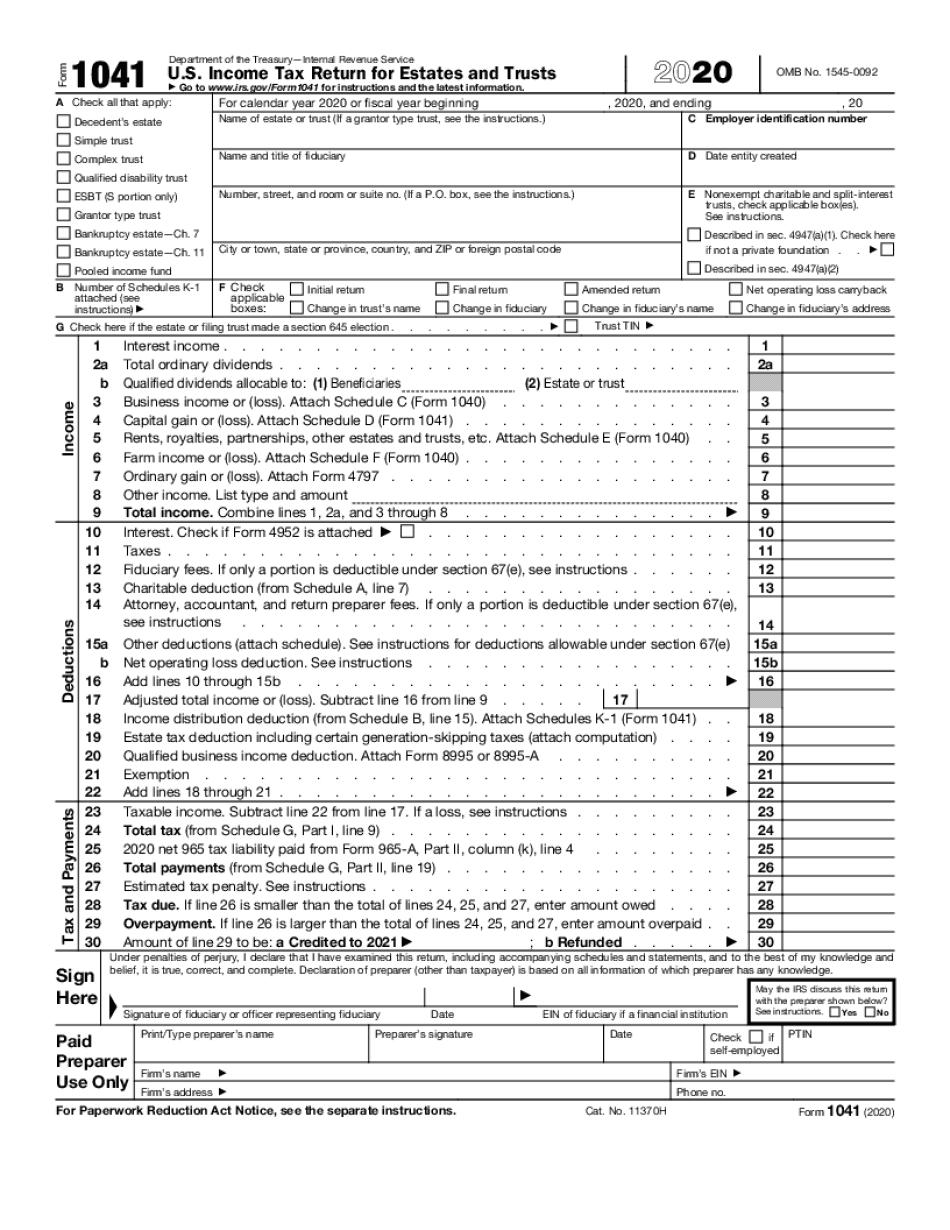 form 1041 schedule d instructions