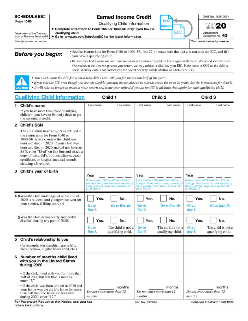 eic table 2021 chart