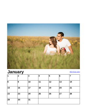 2016 Simple Family Photo Calendar - My Excel Templates