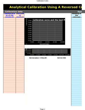 Calibration Cubic Template - My Excel Templates