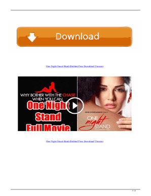 Night hindi one movie stand One Night