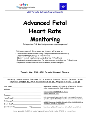 Editable antepartum fetal surveillance in high risk patients