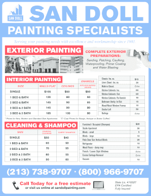 painting jobs craigslist - Fillable & Printable Templates to