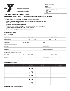 Financial Assistance Form - Fill Online, Printable, Fillable ...