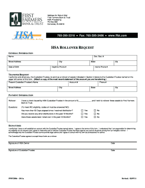 bank of america hsa rollover form