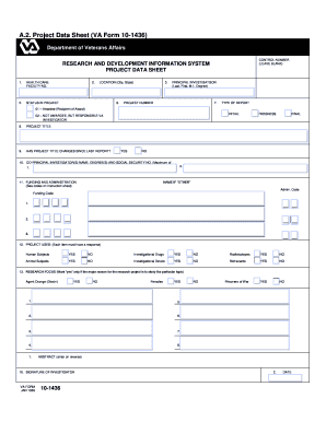 Fillable Online researchcompliance iu VA Project Data Sheet - VA ...