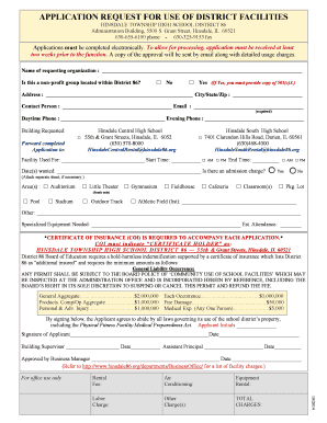 Facilities Rental Request Application.pdf   Hinsdale South High ...   South  Hinsdale86