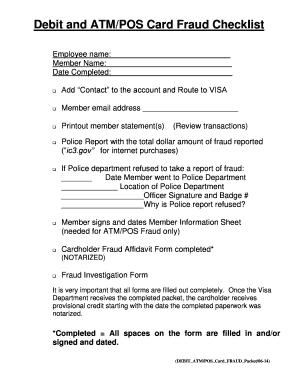 Fillable Online Neighborscu Visa Debit Card Fraud Form Neighbors Credit Union Neighborscu Fax Email Print Pdffiller