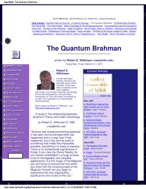 SpiritWeb The Quantum Brahman