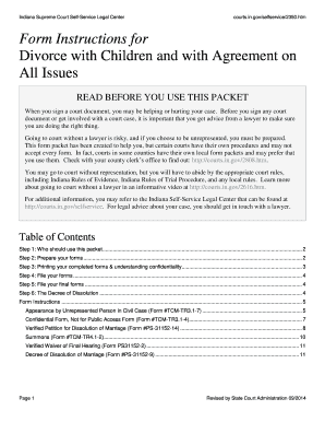 image regarding Free Printable Divorce Papers for Illinois referred to as Fillable Divorce Styles Indiana - Fill On the internet, Printable