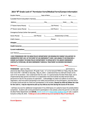 22 Printable Youth Group Permission Slip Template Forms Fillable