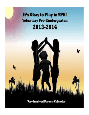 Fillable Online Its Okay To Play In Vpk Fax Email Print