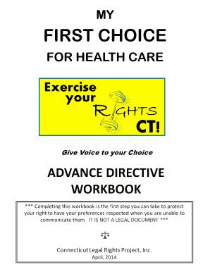 Connecticut Advance Directives English - Begin the Conversation Fill