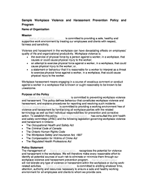 Sample abstract for paper presentation forms and templates for Workplace violence and harassment risk assessment template