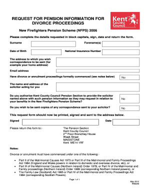 Divorce request form - Kent County Council
