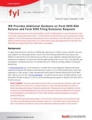 Fillable Online IRS Provides Additional Guidance on Form 8955-SSA ...