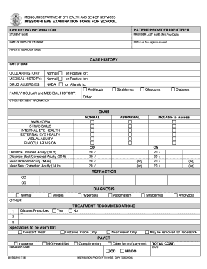 Fillable Online moeyecare Missouri Eye Exam Form Fax Email Print ...
