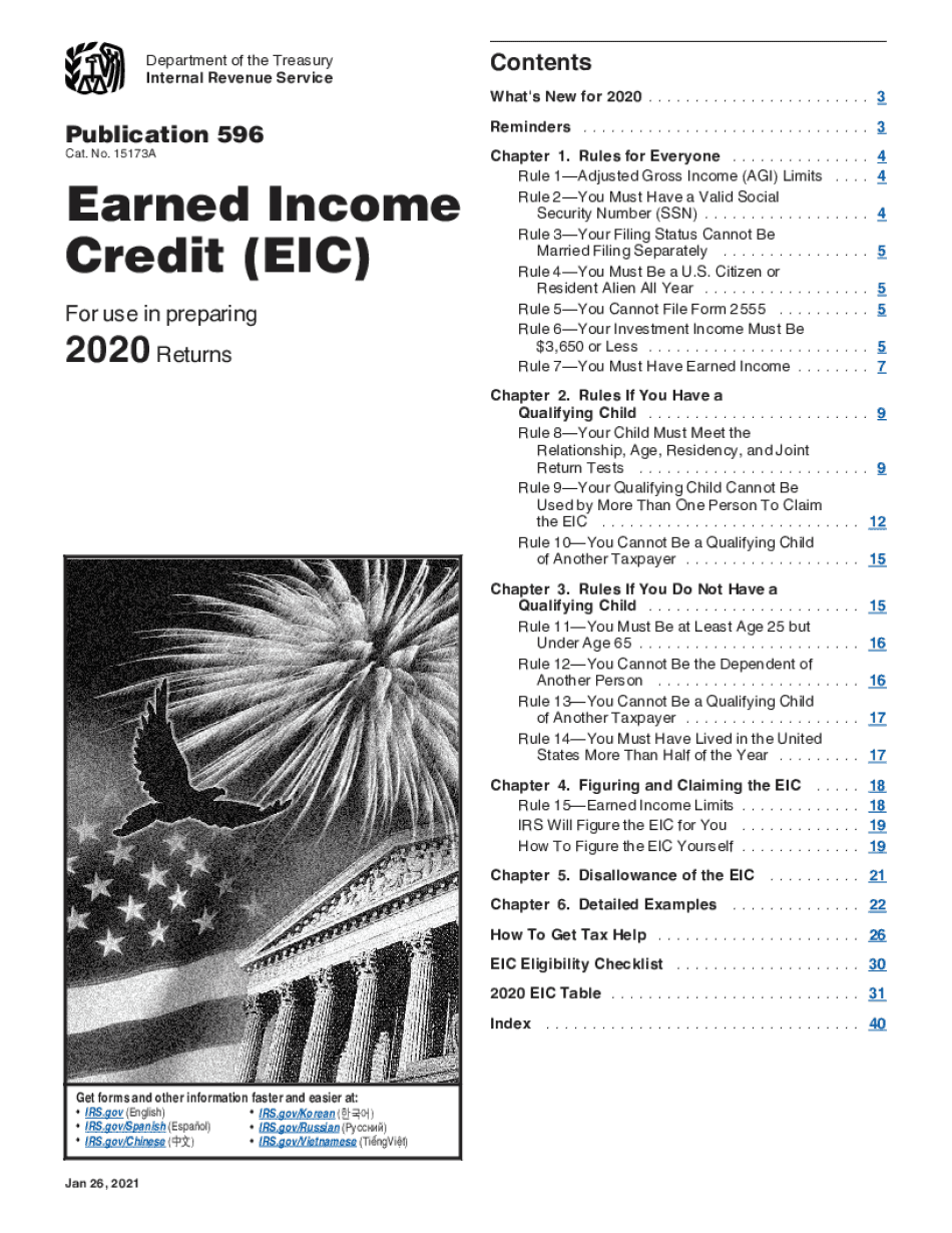 irs publication 596 2018