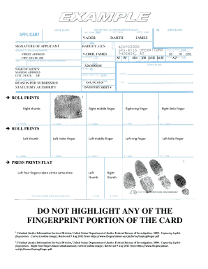 graphic relating to Printable Fingerprint Card known as Instance Fingerprint Card Fill On-line, Printable, Fillable