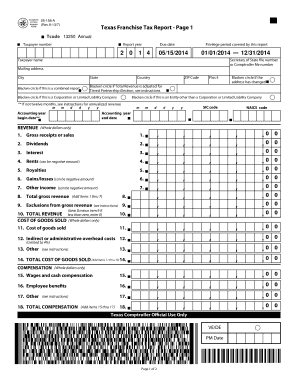 showing 3rd image of Texas 05 158 Tax Rate Fillable Online RESET FORM Texas Franchise Tax Payment ...