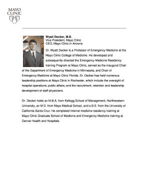 mayo clinic high school internship - Fillable & Printable