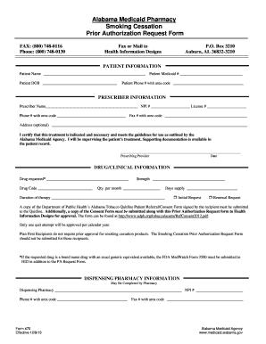 Fillable Online alabama quitlogix Prior Authorization form ...