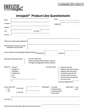 free printable questionnaire template