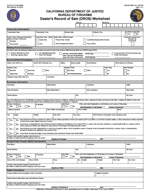 California Dros Form - Fill Online, Printable, Fillable, Blank ...