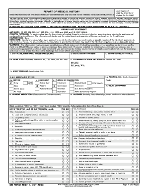 Fillable Online armyrotc sdsu DD Form 2807-1, Report of Medical ...