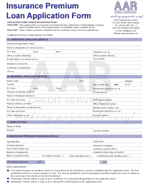 AAR insurance form. New York State Digital library - portal aarcredit co