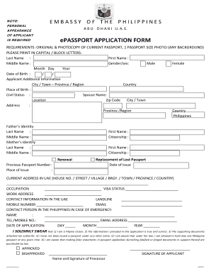 Passport Application Form Davao - Fill Online, Printable, Fillable ...