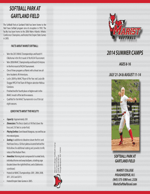 2014 Summer Camp Brochure - Marist College Athletics