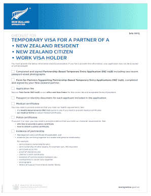 TEMPORARY VISA FOR A PARTNER OF A - immigration govt