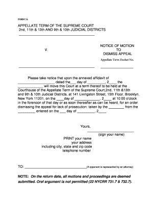 motion to dismiss form Fillable Online courts state ny Appscluster at2 shared OFFICIAL ...