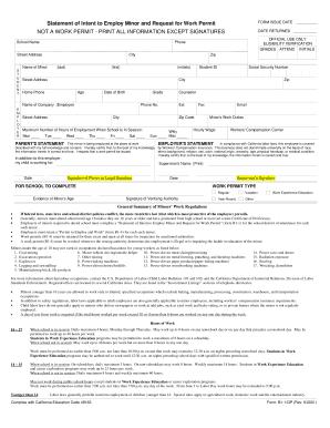 Work Permit Form California B1 1qp - Fill Online, Printable ...