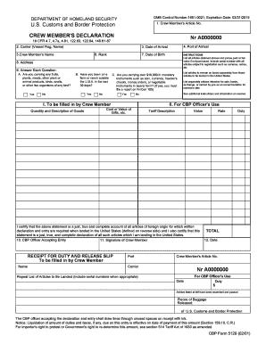 Fillable Online cbp CBP Form 5129.pdf - US Customs and Border ...