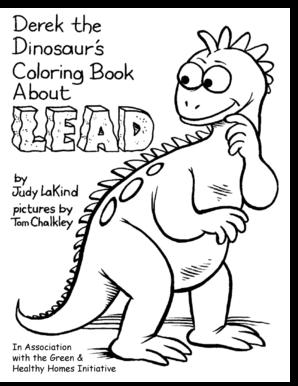Fillable Online Greenandhealthyhomes Derek The Dinosaur Coloring