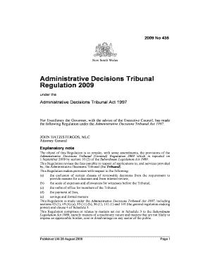Fillable Online legislation nsw gov DD Form 294, Application for a ...