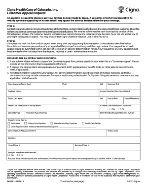 Printable sample letter of appeal to health insurance company ...