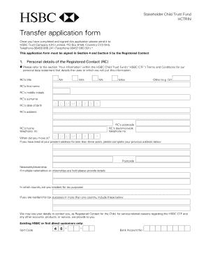 hsbc transfer of funds application form - Edit Online, Fill
