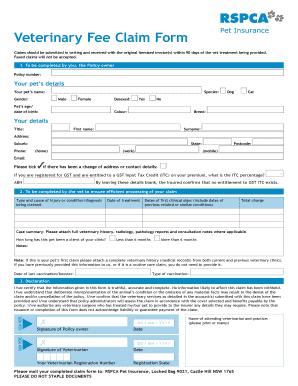 Rspcapetinsurance - Fill Online, Printable, Fillable ...